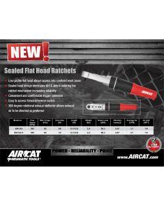 "AIRCAT 1/2"" Drive Sealed Flat Head Ratchet"