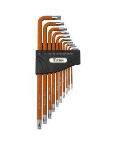 Titan 10-Piece 5-Lobe Tamper Resistant L-Shaped Wrench Set