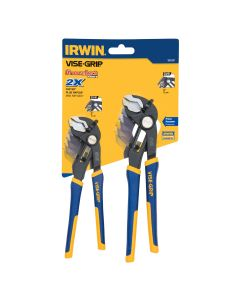Vise-Grip 2-Piece GrooveLock 6 in. and 8 in. V-Jaw Pliers Set