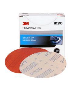 "3M Red Abrasive Hookit Disc, 5"", P320, 50/Box"