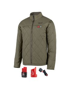 M12 Heated Axis Jacket Kit, Size 3X, Olive Green
