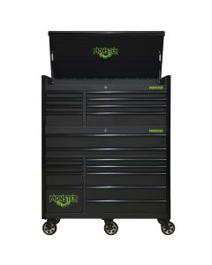 Monster Mobile? 55 in. 2-Piece Combo 8-Drawer Chest and 11-Drawer Cabinet, Matte Black