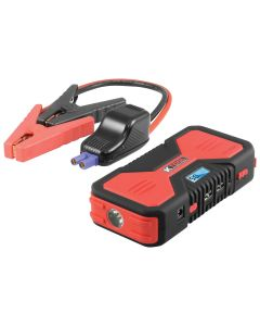 12,000 mAh Jump Starter/ Power Supply - 250 amps Cranking Power and 500 peak amps - Short Out Protection - Digital Read Out - USB Charging Ports - 19V, 16V, 12V outputs
