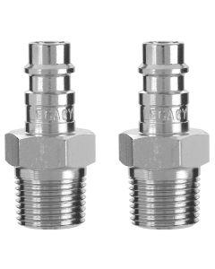 "Flexzilla Pro High Flow Plug, 3/8"" MNPT, 1/4"" Body, 2-Pack"