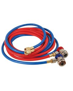 R134a Red and Blue Hose Set with Manual Couplers
