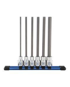 Sunex Tools 6-Piece 3/8 in. Long Metric Hex Bit Socket Set