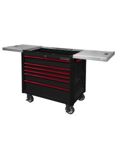 41IN 6 Drawer Slide Top Tool Cart, Red