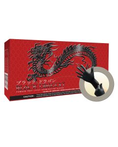 MICROFLEX Black Dragon Latex Exam Gloves, Size L