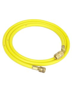 """72"""" R-12 Yellow Hose with Quick Seal Fittings"""