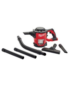 Milwaukee M18 Compact Vacuum with 4 ft. Hose, Crevice Tool, Extensions and Floor Tool