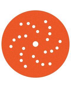 Dynabrade 6 in. Diameter Vac Dynacut Extreme Orange 180-Grit Premium Film Disc