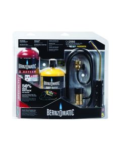 BernzOMatic Welding and Brazing Kit, Includes Wand, Hose Oxygen Regulator and Fuel Cylinders