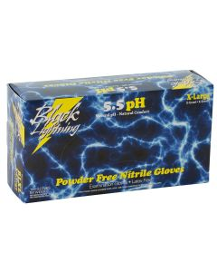 Black Lightning Black Nitrile Gloves, Medium