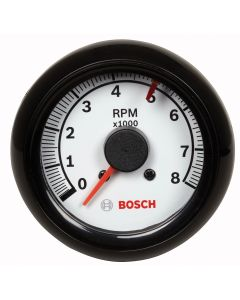"2-5/8"" Tachometer, White/Black"