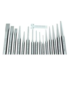 15-pc Punch and Chisel Set (In Kit Bag)