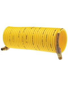 Standard Recoil Hose, 1/4 in. x 25 ft., Yellow, Display Pack