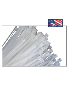 "100 Pk. of 14"" Natural Nylon Cable Ties w/ 50 lb. Strength"