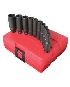 10-Piece 1/4 in. Drive Deep Fractional SAE Impact Socket Set