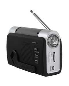 Hand Crank Emergency Radio, with Emergency Alarm, Cell Charger, LED Light, No Batteries Required