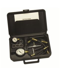 Fuel Injector Pressure Tester with 2 Gauges and Quick Couplers in Storage Case