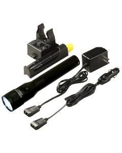 Stinger LED Rechargeable Flashlight with AC/DC and 1 PiggyBack Holder
