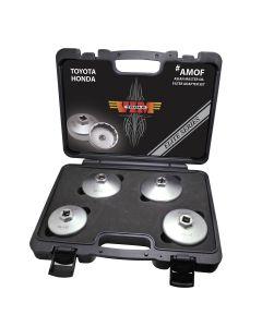 VIM Tools 4-Piece Asian Master Oil Filter Adapter Set