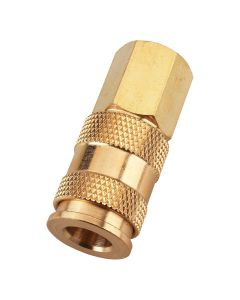 "Coupler Body, 3/8"" NPT Female Threads, V Style, Carded"