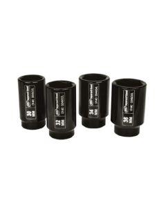 Socket Set 4 PC 1/2 IN Metric Deep Axle Nut