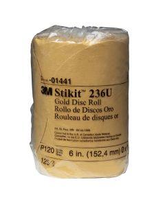 """6"""" 3M Stikit Gold Disc Roll - 125 Discs per Roll"""