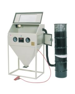 """36"""" x 24"""" Top and Side Door Foot Pedal Abrasive Blasting Cabinet"""