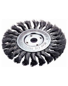 "Standard Twist Wire Wheel Brush, 4"" Diameter"