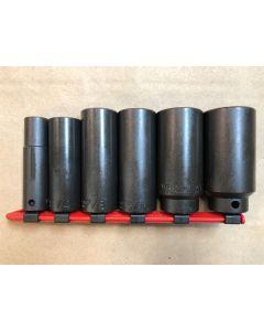 6PC Custom 1/2IN Dr. Deep Impact Socket Set
