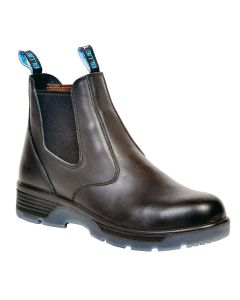 """Blue Tongue Black 6"""" Slip-On Composite Toe Safety Boot, Size 9.5"""
