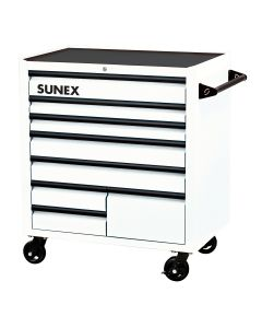 Sunex Tools Premium 8-Drawer Service Carts (41 in. W x 24 in. D x 42 in. H), White