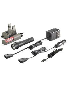 Strion LED 120/DC with Piggyback - Black