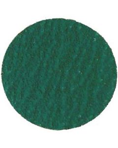 "3"" Green Zirconia Abrasive 80 Grit Disc (25/Box)"