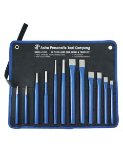 12 Piece Large Cold Chisel and Punch Set