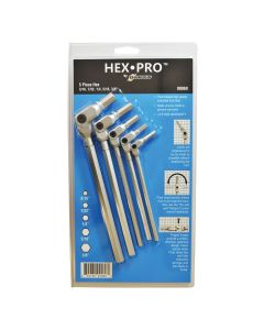 5PC HEX PRO PIVOT HEAD INCH HEX WRENCH SET