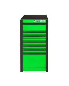 "19"" Extreme Tools 7-Drawer Side Cabinet, Green Box with Black Trim"