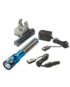 Stinger LED Rechargeable Flashlight with AC/DC and PiggyBack - Blue