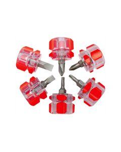 6-Piece Mini Stubby Screwdriver Set