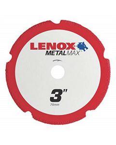 """3"""" x 3/8"""" LENOX Metal Max Die Grinder Diamond Cutoff Wheel"""