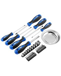 31-Piece Screwdriver Set, S2 Steel Professional Quality, SAE units