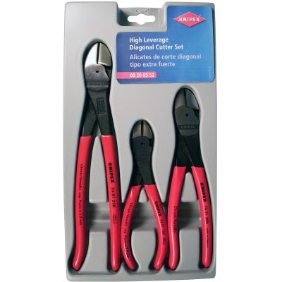 Knipex 3-Piece High Leverage Diagonal Cutter Set