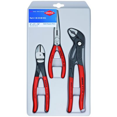 Knipex 3-Piece Plier Set with 10 in. Cobra