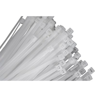 25-pk of 24 Natural Nylon Cable Ties with 175 lb. Tensile Strength