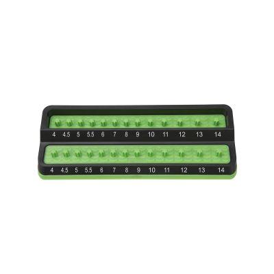 1/4 in. Metric Peg Socket Holder, Green
