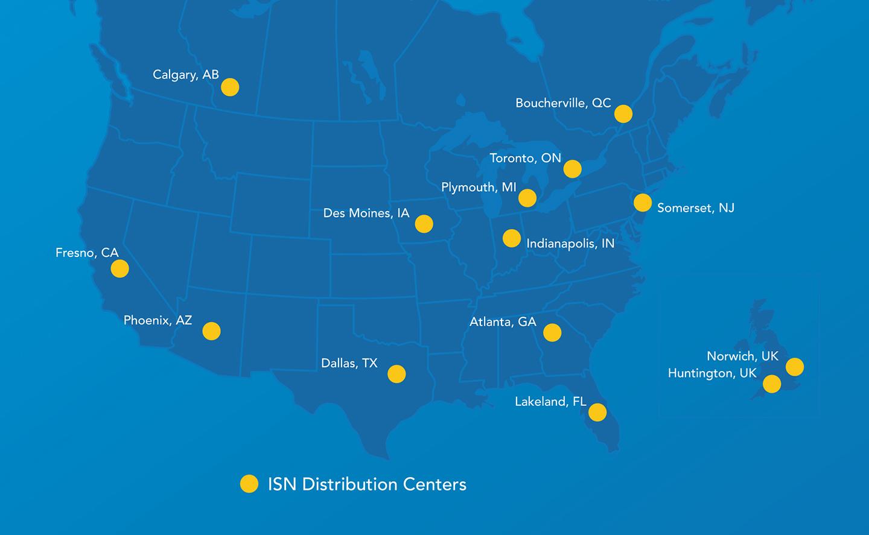 ISN Location Map